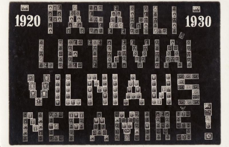 4-ojo dešimtmečio atvirukas, skirtas Vilniui. PANEVĖŽIO KRAŠTOTYROS MUZIEJAUS rinkinių nuotr.