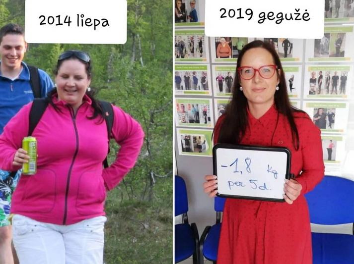 Per pastaruosius trejus metus Redai pavyko atsikratyti net 35 kg. Dabar 162 cm ūgio moteris sveria 64–65 kg. ASMENINIO ALBUMO nuotr.