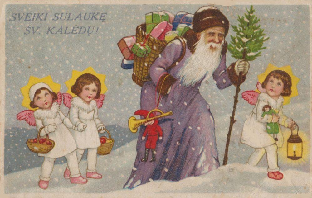 Kolekcininko P. Kaminsko teigimu, prieš 80–120 metų Kalėdoms skirti atvirukai buvo spausdinami užsienyje, didžiosiose spaustuvėse, ant turėtų spaudos klišių pridedant tik lietuviškus sveikinimo tekstus.<br /> Asmeninio archyvo nuotr.