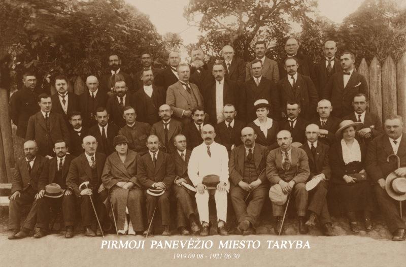 Pirmoji – 1919–1921 metų – Panevėžio miesto taryba. Nemažai jos narių buvo žydai: šios tautos atstovai aktyviai dalyvavo visos šalies politiniame, visuomeniniame gyvenime. PANEVĖŽIO KRAŠTOTYROS MUZIEJAUS nuotr.