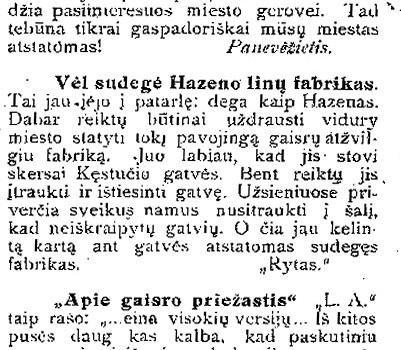 """""""Panevėžio balsas"""", 1931 metai"""