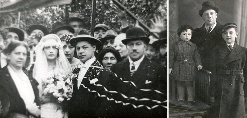 Panevėžiečių verslininkų Brauerių šeimą taip pat išdraskė sovietų represijos ir karas (kairėje – Eduardo ir Feigos Brauerių vestuvės 1924 metais, dešinėje – Eduardas Braueris su sūnumis Igoriu ir Borisu apie 1936-aisiais). EILATGORDINLEVITAN.COM nuotr.