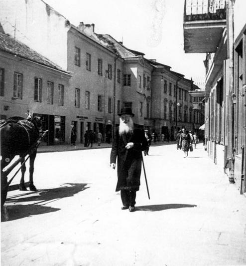 Žydas Vilniaus gatvėje. YADVASHEM.COM nuotr.