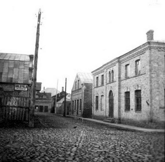 """Panevėžio žydų draugijos """"Tehilim"""" sinagoga dabartinės autobusų stoties teritorijoje. PANEVĖŽIO ŽYDŲ BENDRUOMENĖS nuotr."""