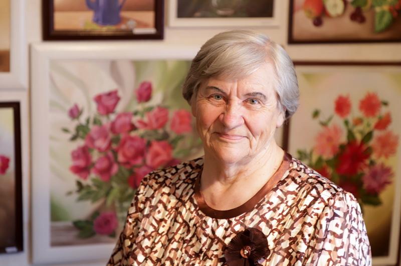 Irena Šaduikytė visą gyvenimą žavisi gamtos grožiu ir jį stengiasi perteikti savo paveiksluose. I. STULGAITĖS-KRIUKIENĖS nuotr.
