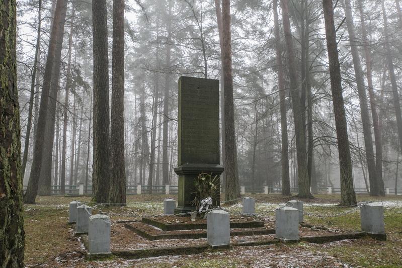 Atminimo paminklas Kurganavos miške, vienoje iš trijų žudynių vietų. PB ARCHYVO nuotr.