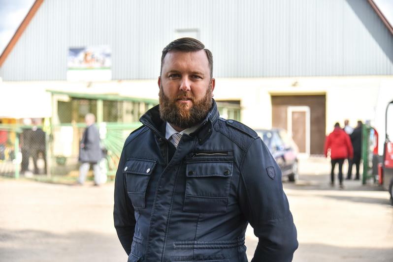 """Parodos organizatorės įmonės """"Panevėžio veislininkystė"""" direktorius Nerijus Gricius. P. ŽIDONIO nuotr."""