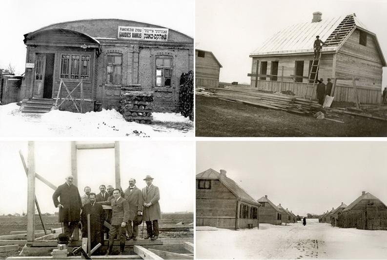 """Dar viena visame pasaulyje žinoma žydų organizacija """"Joint"""", siekdama padėti per Pirmąjį pasaulinį karą namus praradusiems Panevėžio žydams įsigyti nuosavus būstus, 1922 metais kreipėsi į miesto tarybą prašydama išskirti žemės sklypus 40 gyvenamųjų namų statyti. Prie idėjos įgyvendinimo prisidėjo ir Žydų liaudies bankas. Taip Panevėžyje per kelerius metus atsirado nauja Džonto gatvė, pavadinta ją finansavusios labdaros organizacijos garbei, su ištisa virtine naujų namų. PANEVĖŽIO MIESTO ŽYDŲ BENDRUOMENĖS nuotr."""
