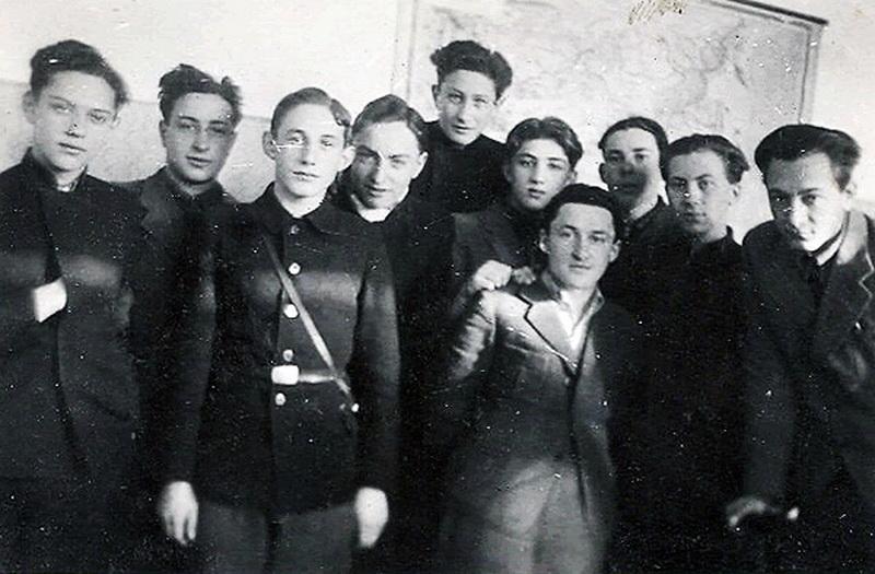 1940-ieji, paskutinė Hebrajų gimnazijos klasė. PANEVĖŽIO MIESTO ŽYDŲ BENDRUOMENĖS nuotr.