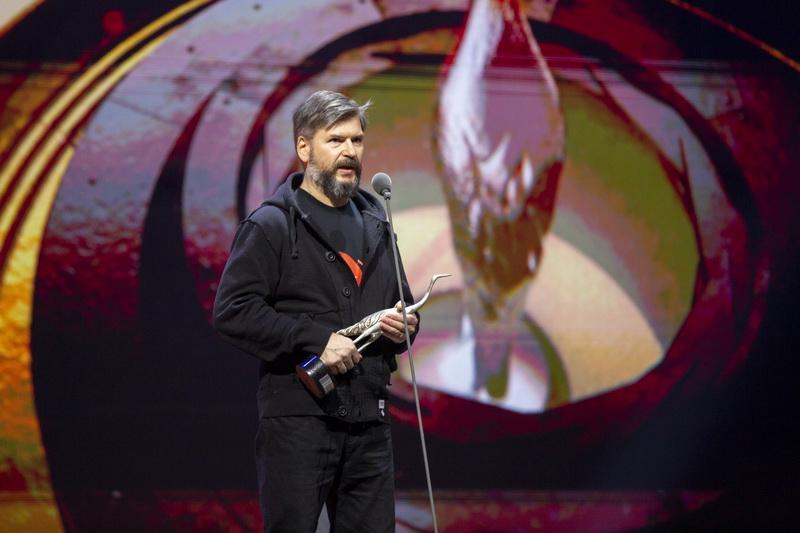 """Juostos """"Animus animalis"""" garso režisierius Jonas Maksvytis. A. ŽEGULYTĖS ASMENINIO ARCHYVO nuotr."""