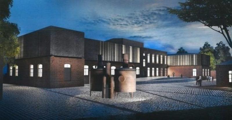 "Rekonstruoto Panevėžio konservų fabriko vizualizacija. PROJEKTO ARCHITEKTAS EDGARAS NENIŠKIS, ARCHITEKTŪROS STUDIJA ""ARCHES""."
