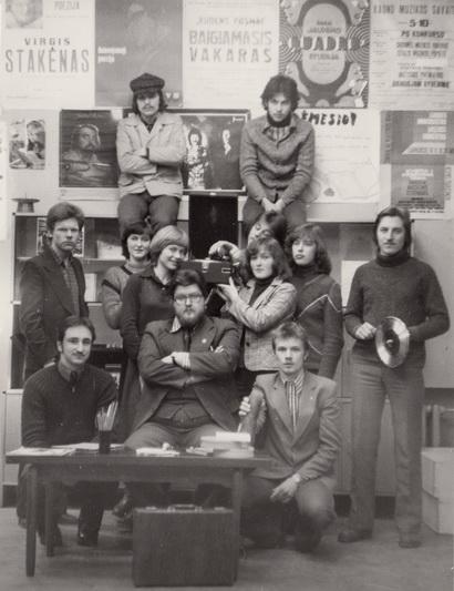 Šiaulių dainuojamosios poezijos studija. Apie 1979 metus. V. ŠONTOS nuotr.