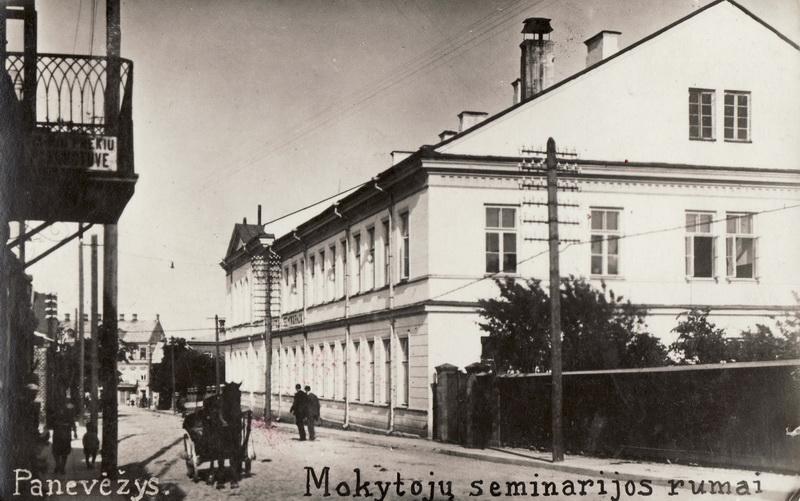 1936 metais uždarytos Panevėžio mokytoju seminarijos rūmuose norėta įkurti savą pedagoginį institutą. PANEVĖŽIO KRAŠTOTYROS MUZIEJAUS RINKINIŲ nuotr.