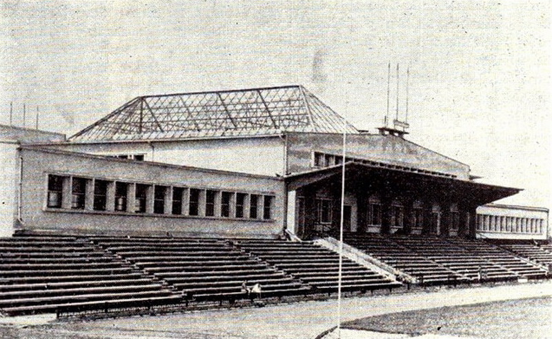 """Rekonstruotas Panevėžio stadionas žurnalo """"Statyba ir architektūra"""" iliustracijoje 1965 metais. ARCHYVŲ nuotr."""