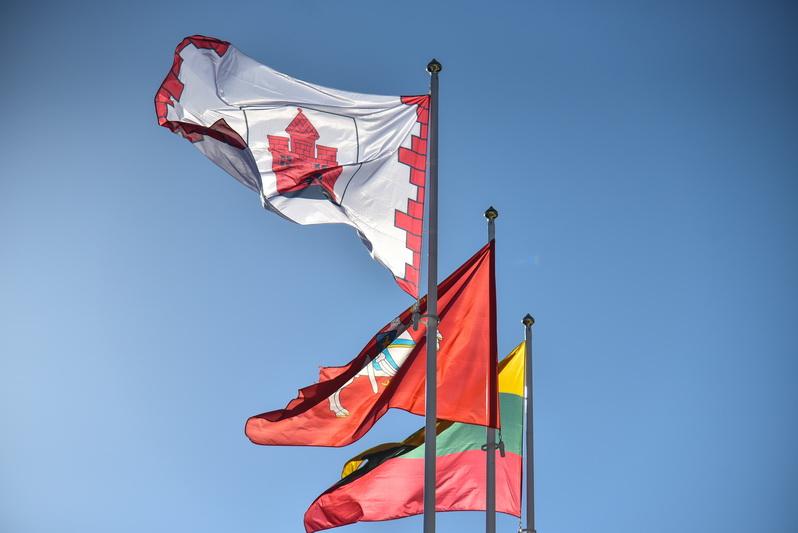 Panevėžio reprezentacinė vėliava laikoma Savivaldybės administracijos patalpose ir iškeliama tik švenčių, renginių metu bei kitais ypatingais atvejais. P. ŽIDONIO nuotr.