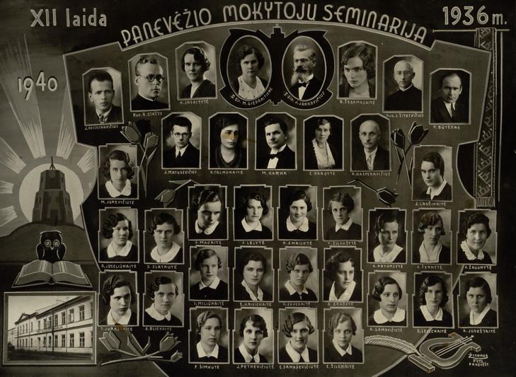 Panevėžio mokytojų seminarijos dvyliktoji laida su Petru Būtėnu. PANEVĖŽIO KRAŠTOTYROS MUZIEJAUS nuotr.