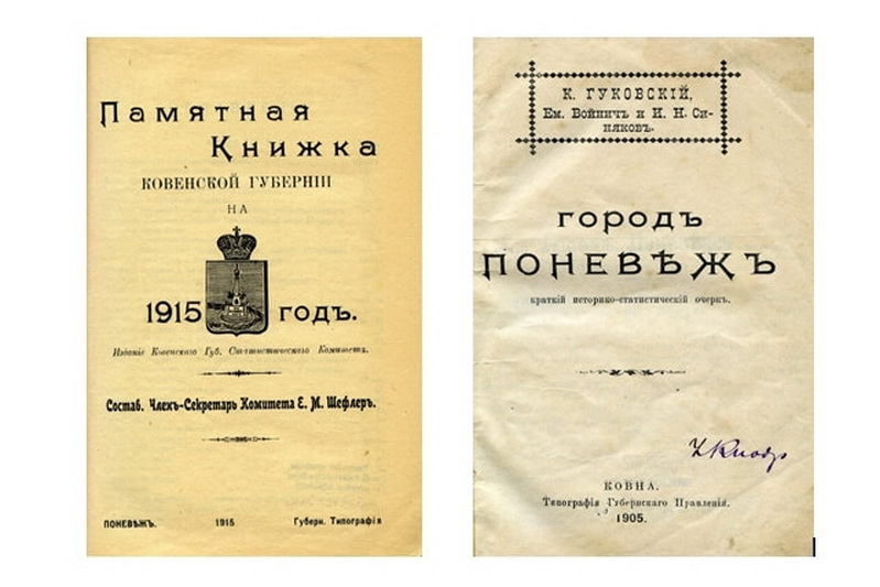 Ne visi 1843–1915 metų dokumentai atsidūrė Kaune. Fotografijoje – Panevėžyje ir apie Panevėžį išleisti Kauno gubernijos leidiniai, saugomi Panevėžio apskrities G. Petkevičaitės-Bitės viešojoje bibliotekoje. PANEVĖŽIO APSKRITIES G. PETKEVIČAITĖS-BITĖS VIEŠOJOJE BIBLIOTEKOS nuotr.