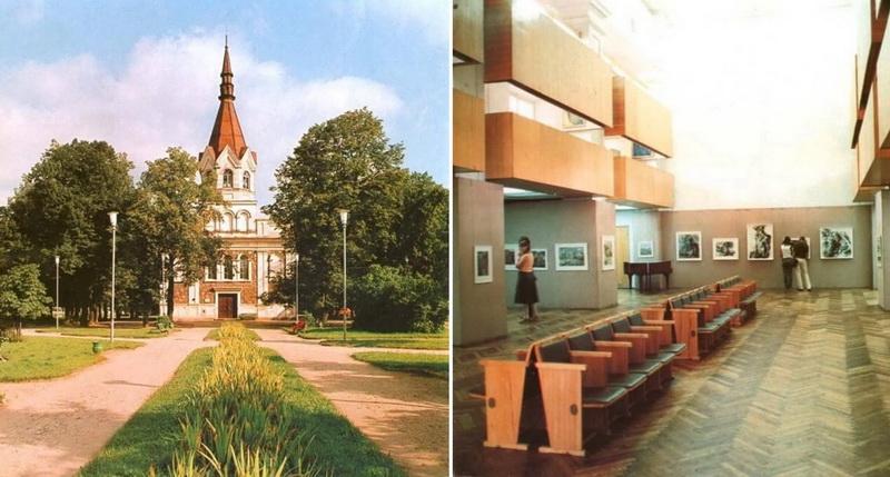 """Po 1973 metais atliktos pastato rekonstrukcijos, buvusioje bažnyčioje ilgai gyvavo daugelio panevėžiečių gerai prisimenami parodų rūmai. IŠ FOTOALBUMO """"PANEVĖŽYS"""", 1984-IEJI."""