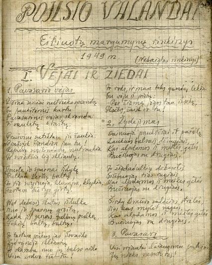 """Paskutinysis, 1949 metų, Broniaus Krivicko-Vilniaus kūrybos rinkinys """"Poilsio valanda"""". LYA nuotr."""