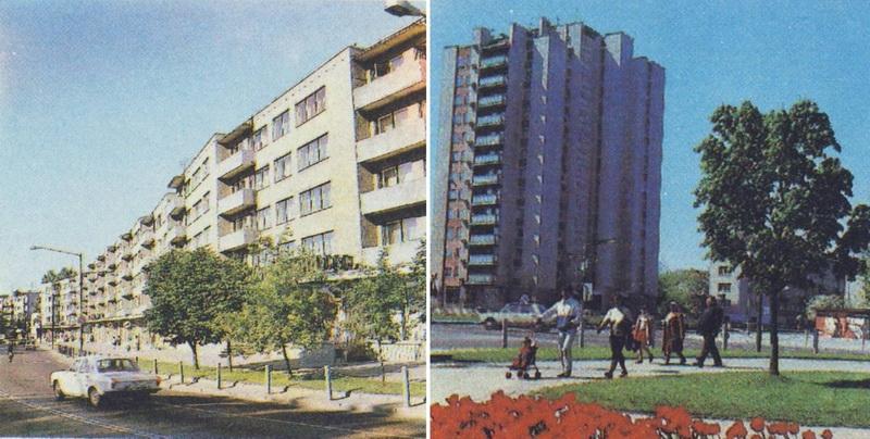 """Ilgiausiu pastatu mieste tapęs daugiabutis J. Basanavičaus gatvėje, panevėžiečių iškart pramintas """"sasyska"""", dar išsiskyrė tinkuotomis sienomis. Tokias pačias turėjo ir netoli Vilniaus gatvėje iškilęs trylikaaukštis. ARCHYVŲ nuotr."""