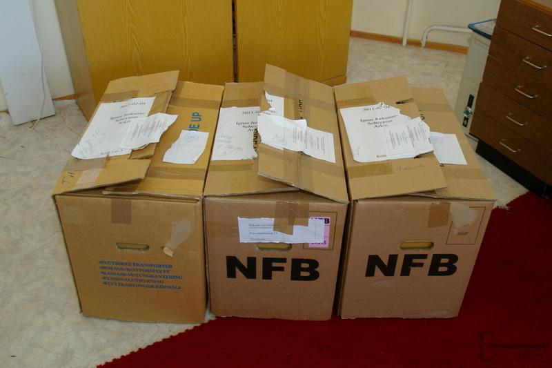 Rašytojo, diplomato Igno Šeiniaus archyvo dokumentai, 2011-aisiais atvežti į Lietuvos centrinį valstybės archyvą iš Švedijos. LCVA (L. Dmuchovskajos) nuotr.