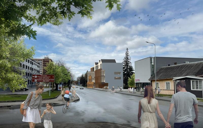 Kol kas naujojo, išskirtinės architektūros pastato Klaipėdos ir Naujamiesčio gatvių sankirtoje statybos dar neprasidėjusios – statybininkams leista tik sustiprinti trapią, daugiau kaip šimto metų raudonų plytų sieną su originaliomis jos puošmenomis. Dar laukia projekto pristatymas visuomenei.