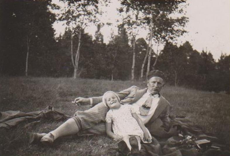 Su dukra Dalia. Pažaislis, 1929 metai. MLLM nuotr.